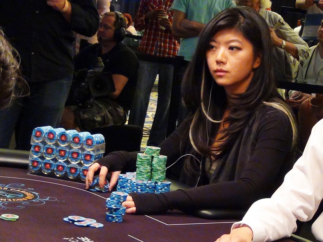 Cute Asian Poker Player