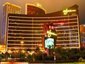 Wynn Macau building at night