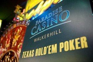 Sign outside of Paradise Casino Walkerhill