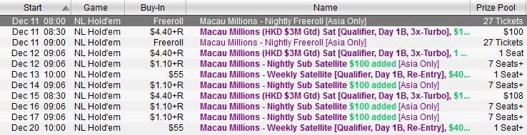 MAcau Millions Satellites