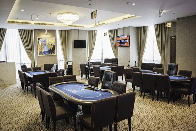 Poker room at Grand Loyal Poker Club