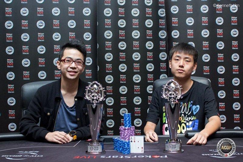 Taiwan's Pete Chen and China's Wei Zhao (Photo Pokerstars)