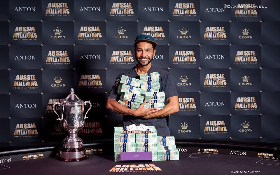 Aussie Million Main Event winner