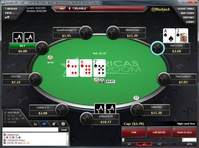 Americas Cardroom Cash Table