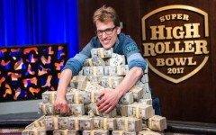 Champion Christoph Vogelsang 2017 Super High Roller Bowl Final Table Part 2