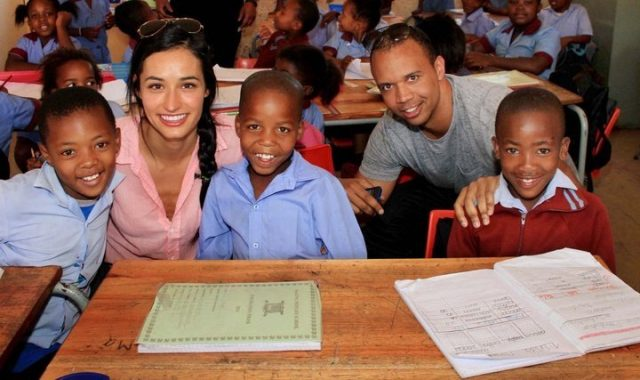 Ellie and Phil Ivey in Vosloorus, South Africa
