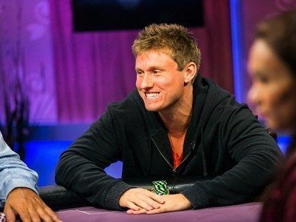 Matthew Kirk smiling at the poker table