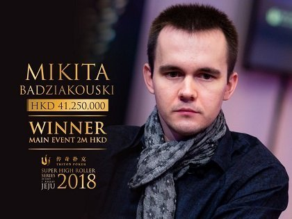 Mikita Badziakouski wins Triton Super High Roller Series Jeju Main Event