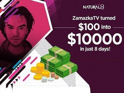 Rinat 'ZamazkaTV' Lyapin turns $100 into $10,000 on Natural8