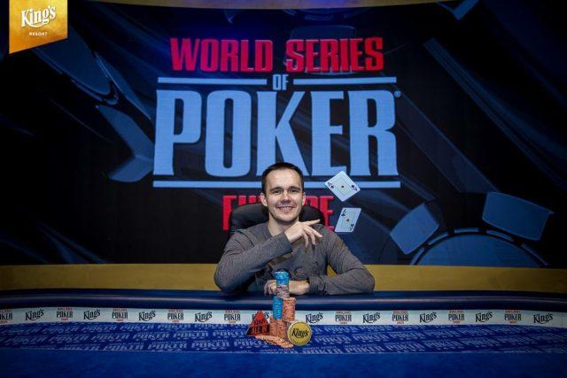 Mikita Badziakouski at the World's Series of Poker