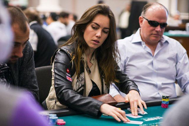 Liv Boeree playing poker