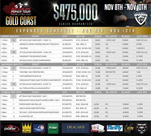 Australian Poker Tour Gold Coast 2019 Schedule