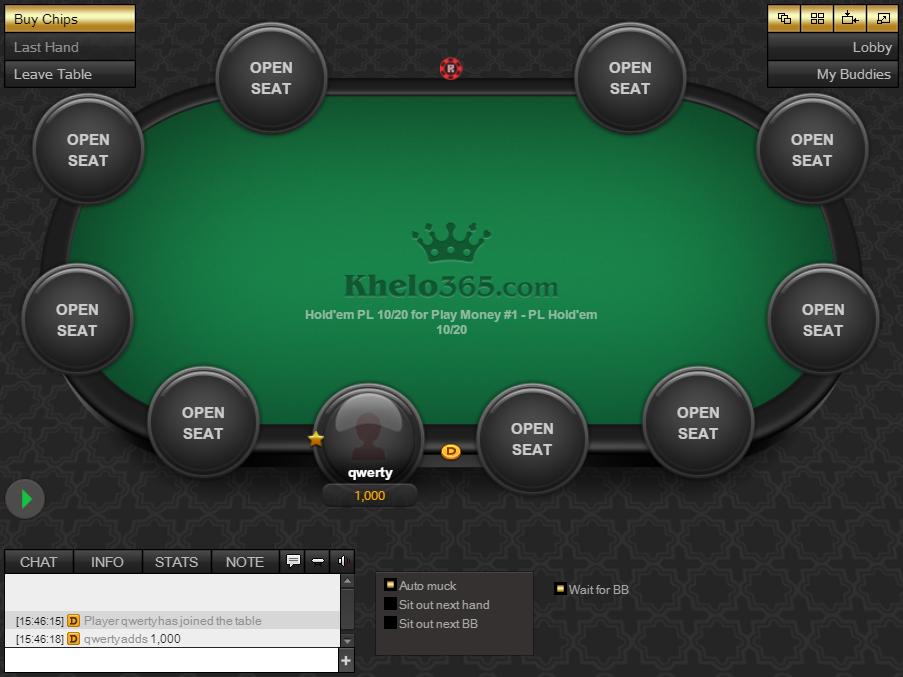 Khelo365 table