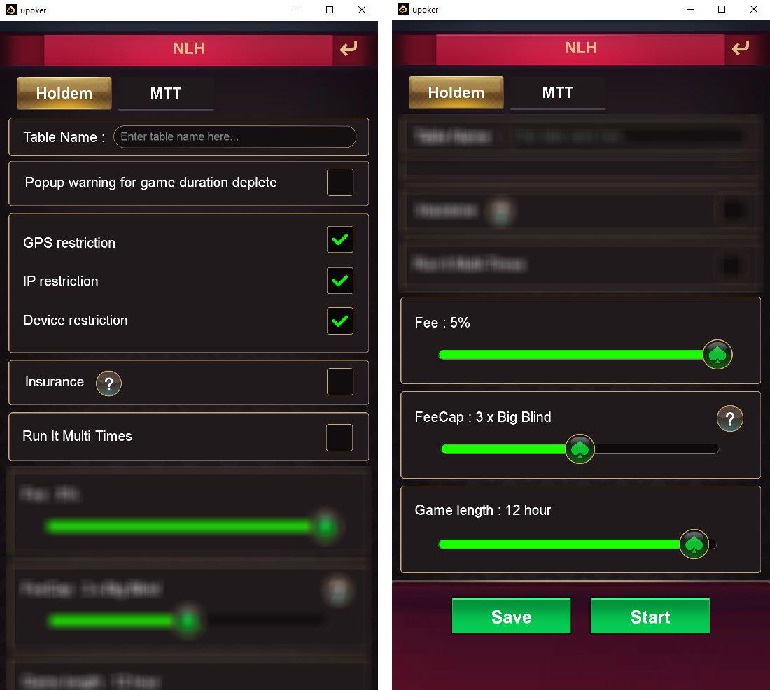 NLH settings V2