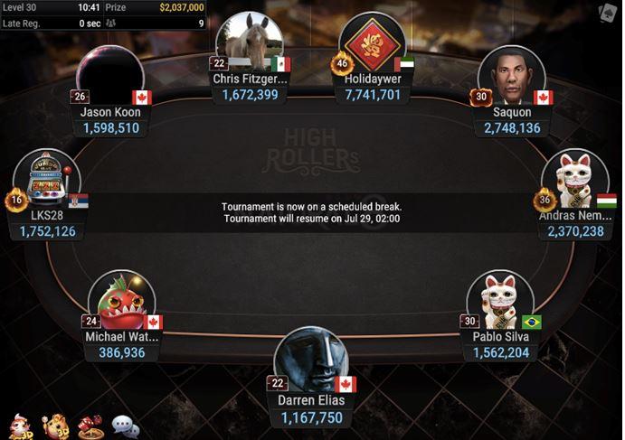High Rollers Super MILLION 10K 2M GTD final table