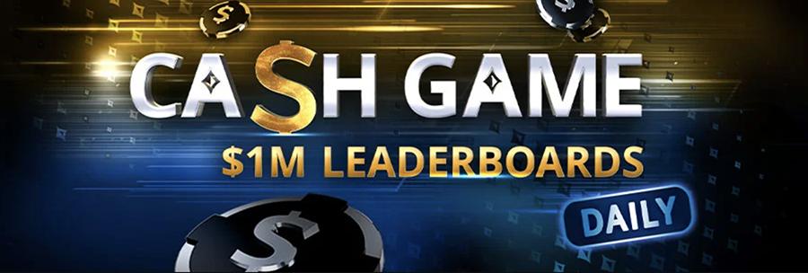 Partypoker cash game leaderboards
