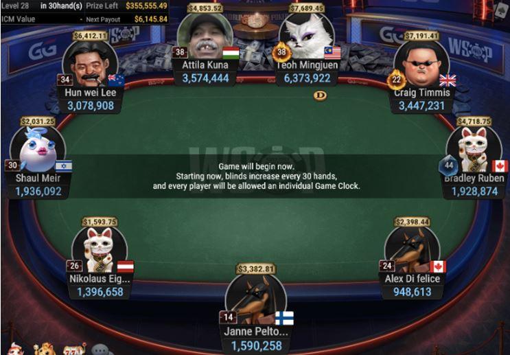 WSOP 37 1050 Bounty Pot Limit Omaha final table