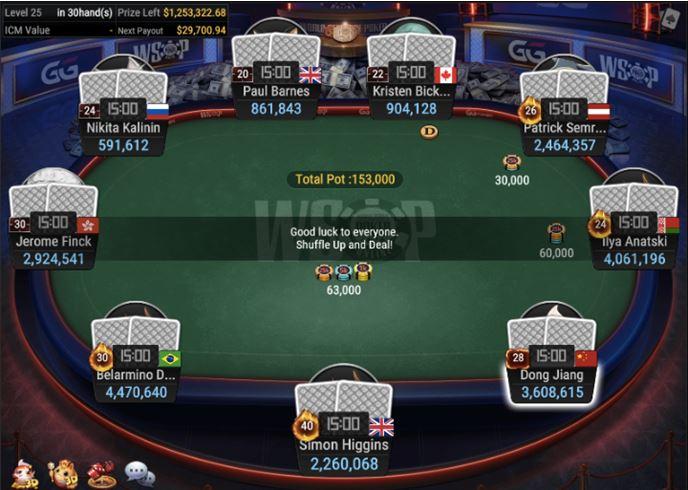 WSOP 44 2500 No Limit Hold'em 6 Handed final table