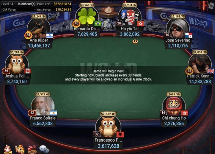 WSOP 45 840 Bounty No Limit Hold'em final table