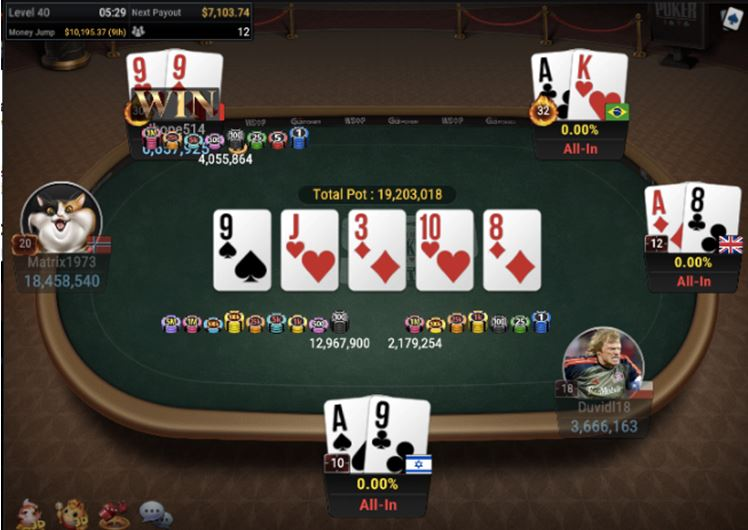 Four way all in in WSOP 57 150 GGMasters WSOP Edition Freezeout