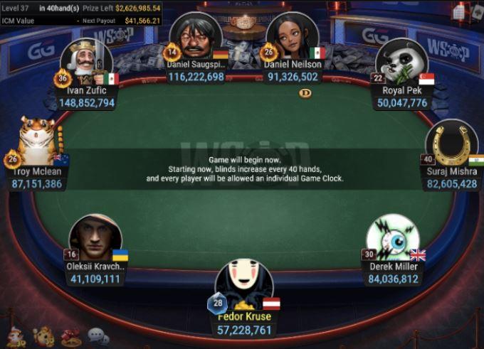 WSOP 63 500 Mini Main Event final table