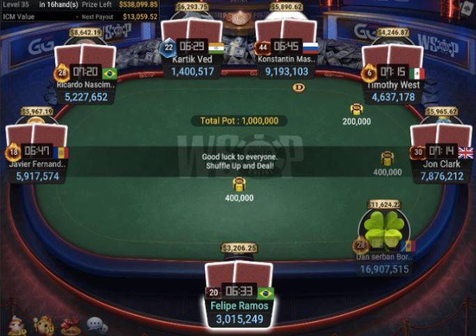 WSOP 64 840 Turbo Bounty NLH final table