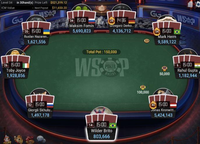 WSOP 66 800 Pot Limit Omaha final table