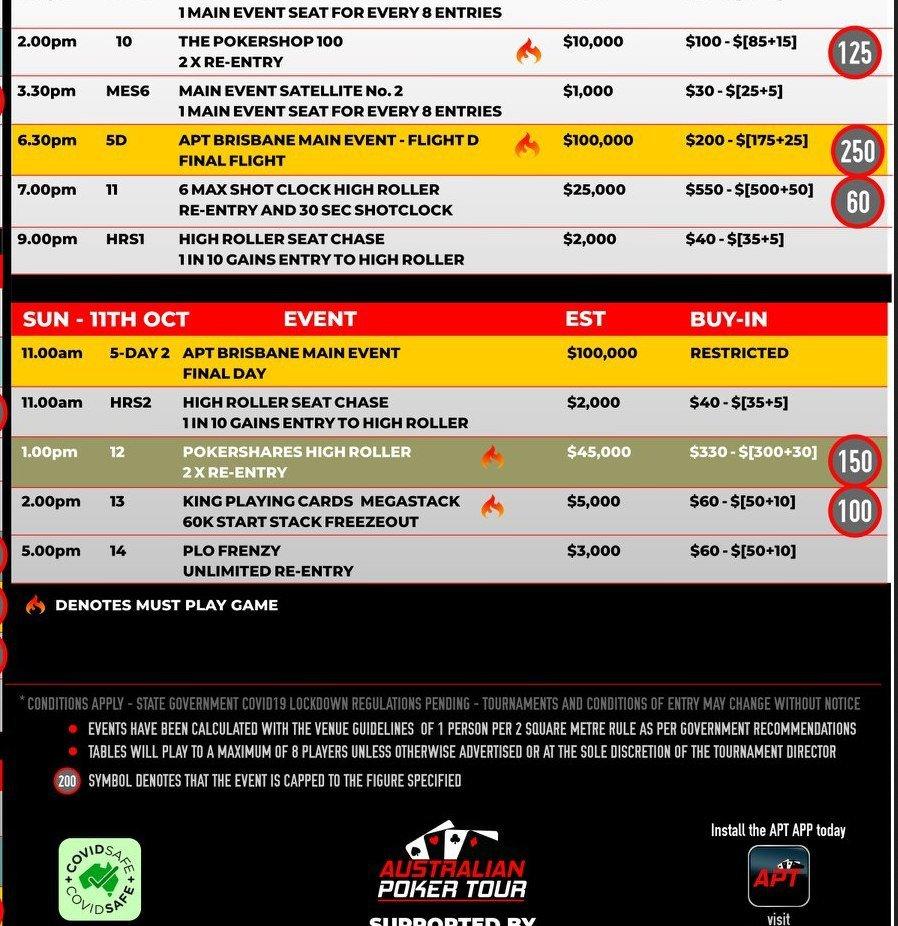 aus poker tour brisbane schedule2