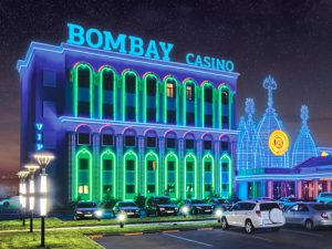 Bombay Casino cuilding at night