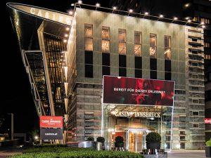 Casino Innsbruck building at night