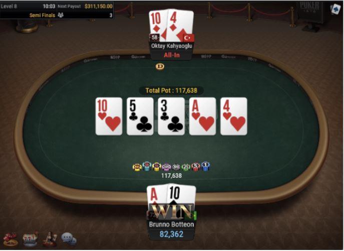 WSOP 79 25000 Heads Up NLHE Brunno Botteon vs Oktay Kahyaoglu