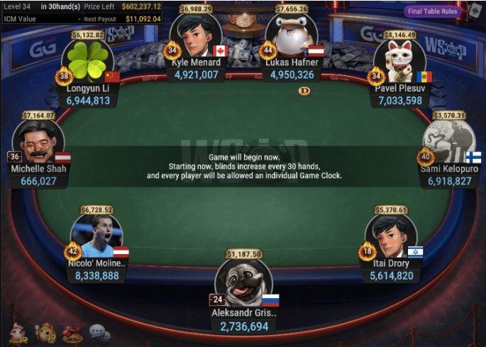 WSOP 81 1050 Bounty NLHE 6 Handed Spin the Wheel final table