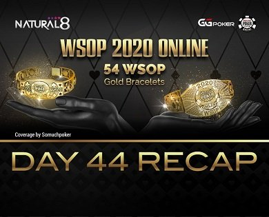 2020 WSOP Online - Natural8: Eight bracelets remaining; $100 WSOP MILLIONS [ $2M GTD ] opens with over 4K entries; WSOP #79: $25,000 Heads Up NLHE on deck tonight
