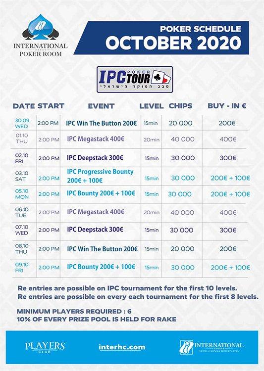International Hotel Casino tournament schedule
