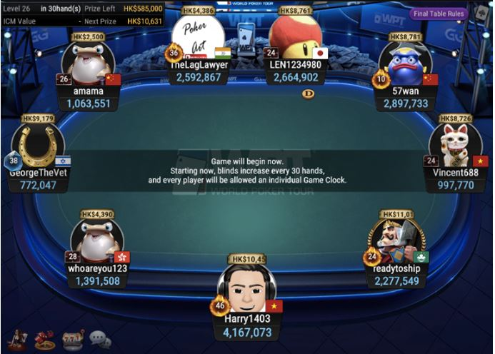 WPT Trophy 1 Beat the Pros Bounty final table