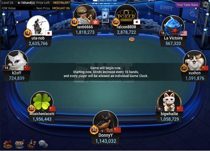WPT Trophy 18 Turbo Poker Open final table