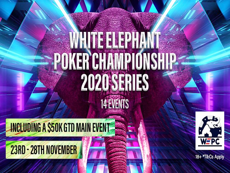 White Elephant Poker Championship (WEPC) 2020 Series Schedule