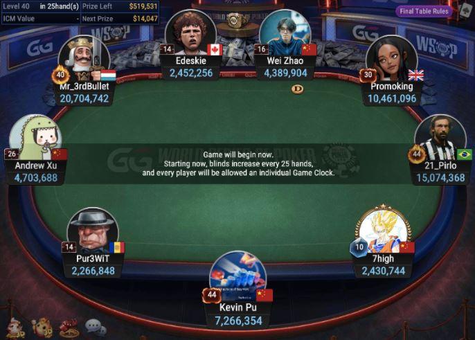 WSOPC 4 800 Monster Stack No Limit Hold'em final table