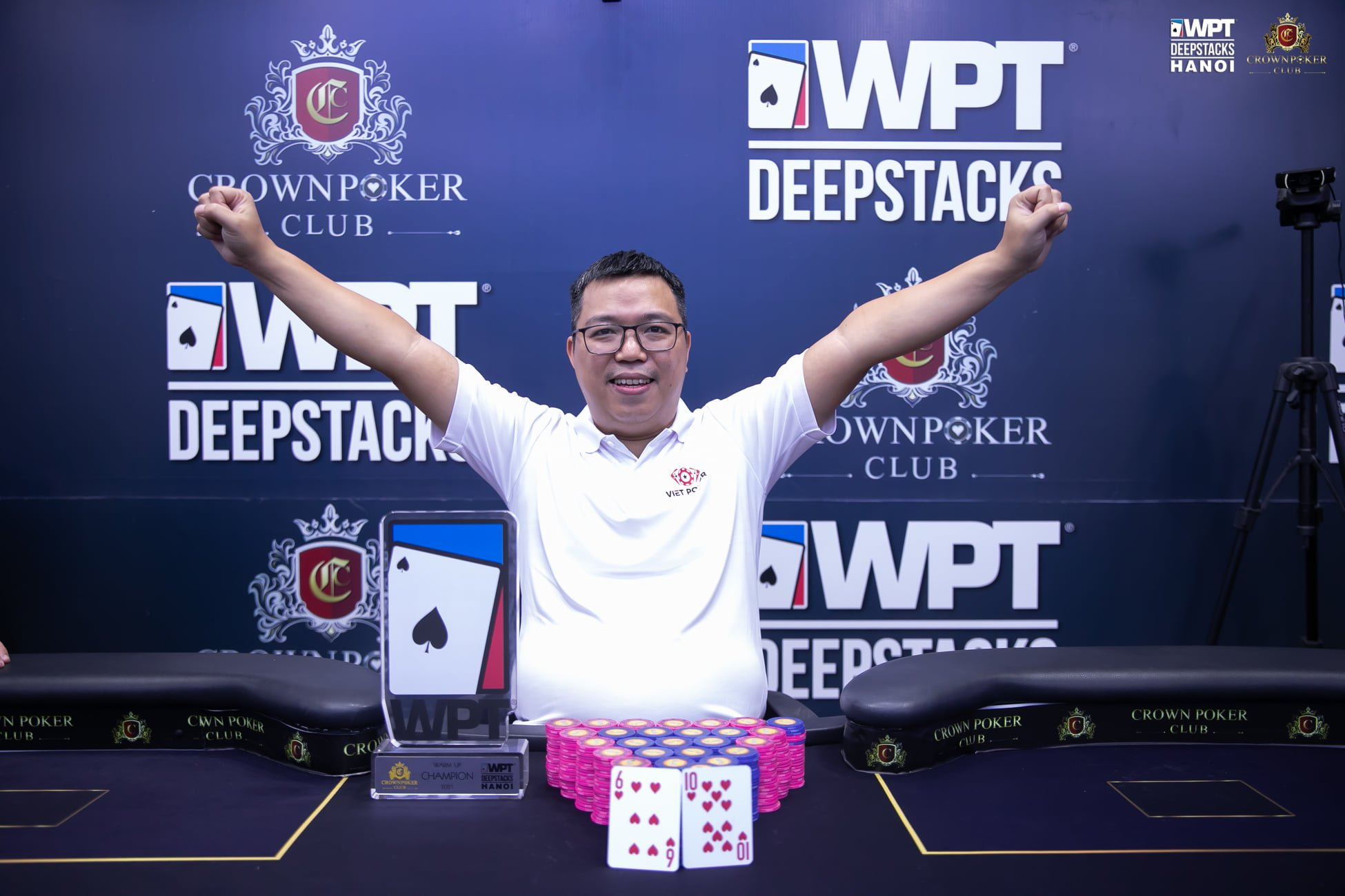WPTDeepStacks Hanoi: Four way deal awards Pham Bao the Warm Up Event win; Nguyễn Gia Trung claims Single Day HR, Trần Đức Toàn wins Superstack
