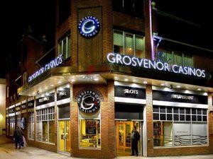 Grosvenor Casino Reading Central building at night