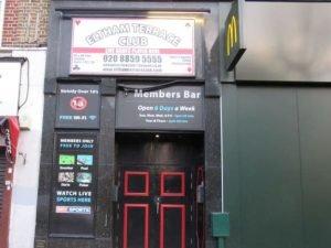 Eltham Terrace Club entrance