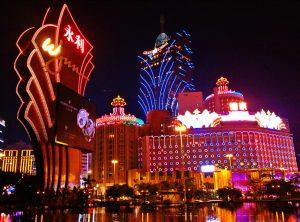 Casino Lights In Macau